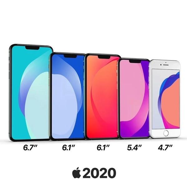 苹果2020年要发7款新iPhone?其中只有两款5G手机